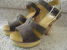 See by Chloe SB18214 Wood Sole Sandal Shoes Size 38(K-30732)