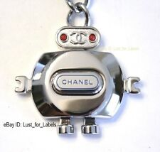 2017 CHANEL Leather Keyboard O-Case Clutch Robot Charm Data Center Pouch Bag NWT