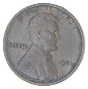 XF+ 1909 Lincoln Wheat Cent - 1st Year Issue - Great Condition *854