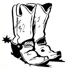 Cowboy Boots Decal - Window sticker Car RV Truck Western Outdoor Vinyl Decal