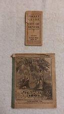 "Vintage Reading"" Pocket Guide to DENVER 1920's"" & ""1895 ALMANAC"""
