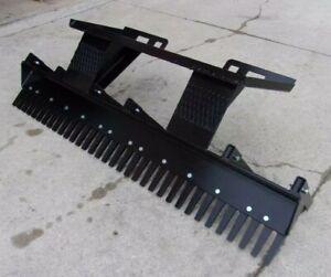 "72"" Eliminator Scarifier Landscaping Rake Skid Steer Attachment *Heavy Duty*"