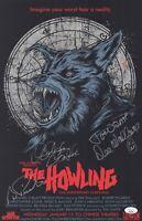 THE HOWLING Cast X4 Signed WALLACE - DANTE - PICARDO 11x17 Poster JSA COA Horror