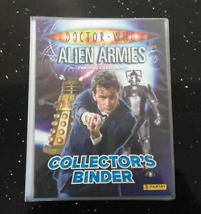 Dr Doctor Who Alien Armies Trading Card Binder & almost complete base set Panini