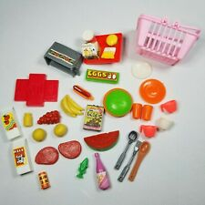Vintage Barbie Kitchen Food Groceries Cups Dishes Accessories Lot