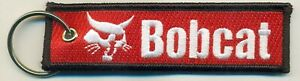 Bobcat Embroidered Key Chain, Utility vehicles, loaders, excavators construction