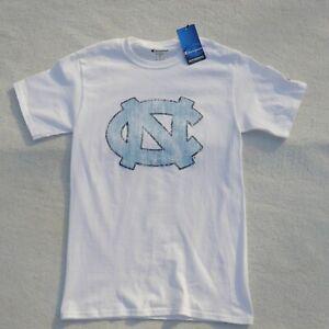 New North Carolina Tar Heels Shirt Adult Small White Champion Authentic Mens NWT