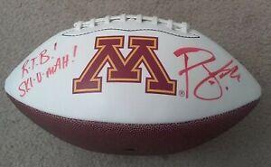 P.J. Fleck Signed Auto Minnesota Golden Gopher Football Row The Boat