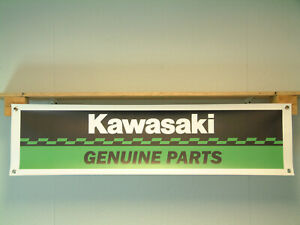 Kawasaki Parts Banner Motorcycle Workshop Garage Repro Display Bike Show Sign