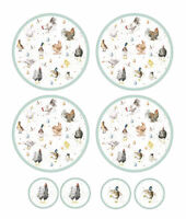 Pimpernel Wrendale Set of 4 Round Placemats & Coasters Table Drink Mats Country