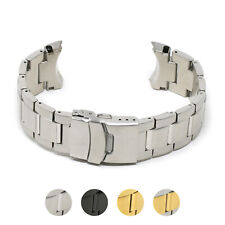 StrapsCo Stainless Steel Metal Bracelet Watch Band Strap for Seiko Samurai 22mm