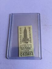 EMPIRE STATE BUILDING OBSERVATORIES VINTAGE RECEIPT FROM 1953