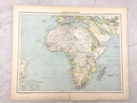 1894 Antique Map of Africa African Continent Political Old 19th Century French