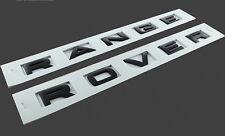 MATT LETTERE NERE PER Range Rover Cofano Stivale PORTELLONE font Decalcomania distintivi