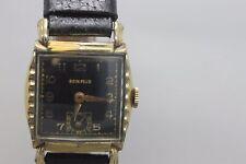 Vintage Original Benrus Gold Tone 17j Hand Wind Men's Wristwatch Watch Running