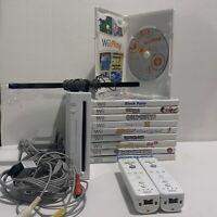 Nintendo Wii White Console RVL-001 GameCube Compatible Bundle Games Cords Etc