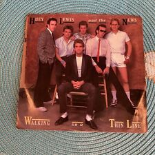 New listing Huey Lewis and the News 45 Walking on a Thin Line & The Only One 1983 Stereo