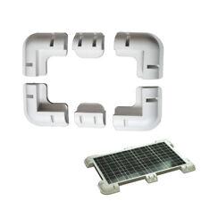 Solar Panel Corner Cable Mounting Bracket Entry Motorhome Caravan RV Boat