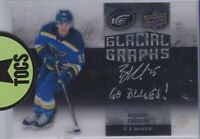 "Robby Fabbri 2015-16 Ice Glacial Graphs Inscribed ""Go Blues!"" Hard Signed 41/75"