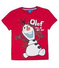 Camisetas de niño de 2 a 16 años rojos Disney