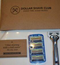 Dollar Shave Club Executive Razor Handle + 4 Cartridges 6 Blade NEW