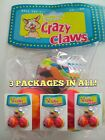 SERGEANTS CRAZY CLAWS CAT BALLS 3 PACK LOT OF 3 PACKAGES KITTEN FELINE CAT TOY