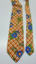 CRAVATTA HUGO BOSS 100% SETA FANTASIA MEN SILK TIE VINTAGE ORIGINALE FLOREALE