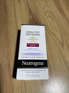 Neutrogena Healthy Defense Sensitive Skin Daily Moisturizer SPF 50 1.7 oz New