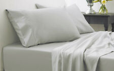 400TC Egyptian Cotton WATERBED SHEET SET Extra Deep Pocket Silver
