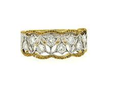 Mario Buccellati 18k Gold Diamond Half Band Ring