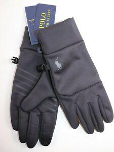NWT $68 RALPH LAUREN Size S Mens Black Polartec Stretch Performance TOUCH Gloves