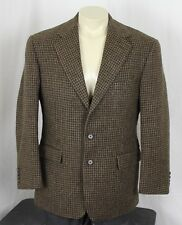 Polo Ralph Lauren Vintage USA Wool Tweed 3 Button Sport Coat Brown Mens 40R