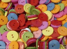 30 Mixed Colour Round Button Beads - 24mm - Bright Sewing Buttons 2 hole PB99