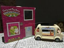 Calico Critters Lot Ice Cream Truck Carry And Play House Case
