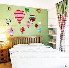 Colorido Globos Aerostáticos pegatinas de pared Niñas Niños Infantil Niño habitación Arte calcomanías