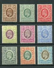 East Africa and Uganda 1907-08 set SG34/42 fine MM