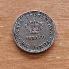 INDIA-PORTUGUESE - GOA - 1/8 TANGA - 1881 - COPPER - SCARCE -