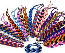 "#4438 Five Assorted 1"" Wide Artisan Woven Friendship Bracelet School Fair Trade"