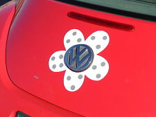 VW Beetle Flower Magnetic Decal - Gray Polka Dots