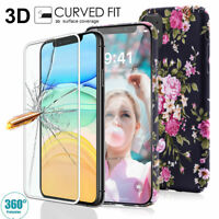 Slim Protective Case For iPhone 11 Pro XS Max XR X 8 7 Plus Sceen Tempered Glass