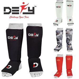 DEFY GEL Shin Instep Foam Padded Shin Guard Shin Support MMA Foot Protector