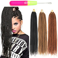 "18"" Thin Senegalese Twist Crochet Braid Hair Small Synthetic Hair Extensions"