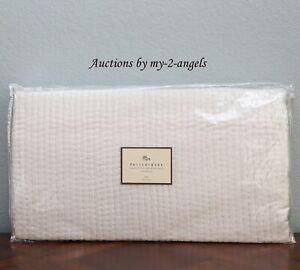NEW Pottery Barn CHANNEL STITCH SILK VELVET Twin Quilt IVORY