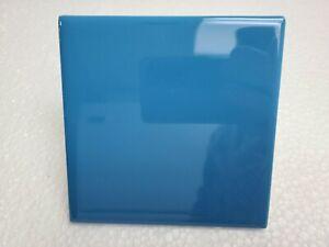 Electric Blue 4 in Ceramic Tile 4.25 inch Daltile Color 1194 4x4 Square Sample