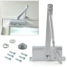 65-85KG Silver Aluminum Commercial Door Closer Two Independent Valves Control