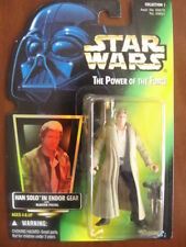 Star Wars The Power of the Force HAN SOLO IN ENDOR GEAR Figure - NEW - Kenner