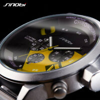 Mens Sport Chronograph Wrist Watches Waterproof Gents Luxury Military Watch