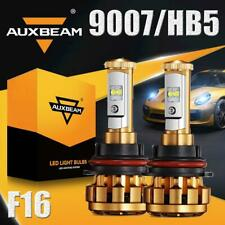AUXBEAM 60W 9007 HB5 LED Headlight Bulbs Kit 6000lm 6000K F16 CREE High Low Beam