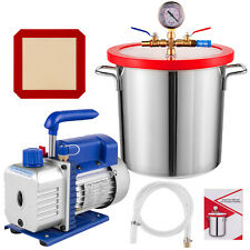 3 Gallon Vacuum Chamber And 4 Cfm Single Stage Pump To Degassing Silicone Kit