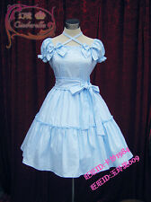 Cosplay Lolita Sweet Love Cute Light Blue Kawaii Princess Dress